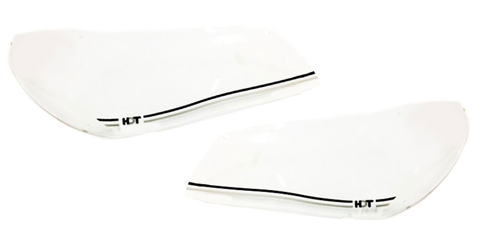 HDT VF HEADLIGHT COVERS - BLK AND SIL