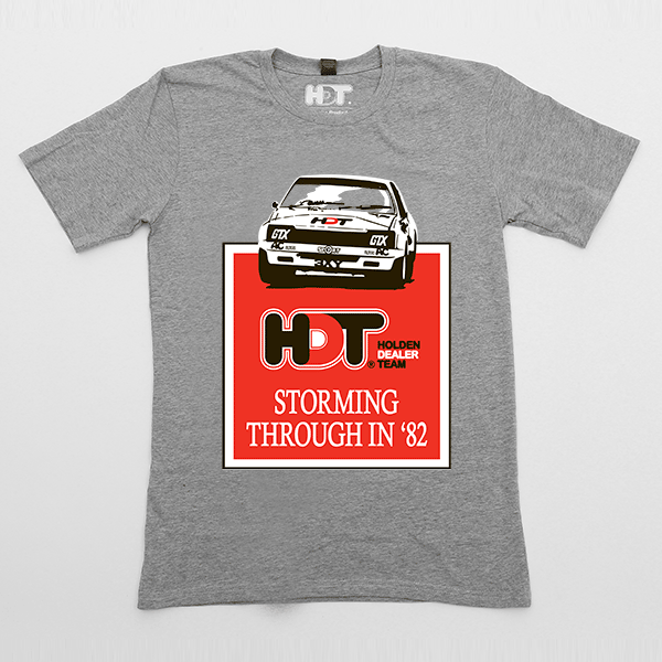 Storming through in '82 HDT Commodore t-shirt